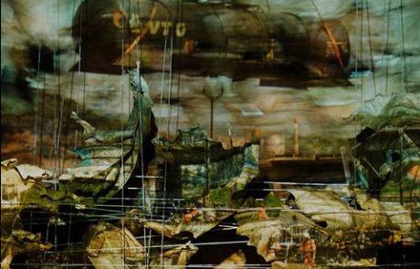 Trümmerfelder, Überbleibsel, Schutt, Pressebilder, Projektionen