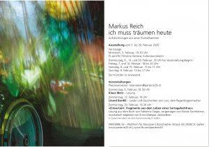 ich muss träumen heute Ausstellung Markus Reich